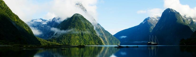 Új-Zéland fjordjai